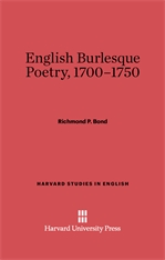 Cover: English Burlesque Poetry, 1700-1750