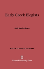 Cover: Early Greek Elegists