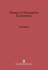 Cover: Essays in Normative Economics