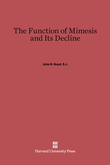 Cover: The Function of Mimesis and Its Decline