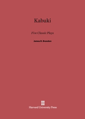 Cover: Kabuki: Five Classic Plays