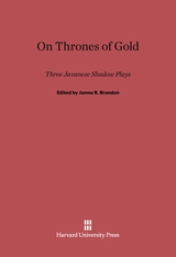 Cover: On Thrones of Gold: Three Japanese Shadow Plays