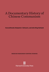 Cover: A Documentary History of Chinese Communism