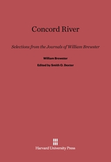 Cover: Concord River: Selections from the Journals of William Brewster