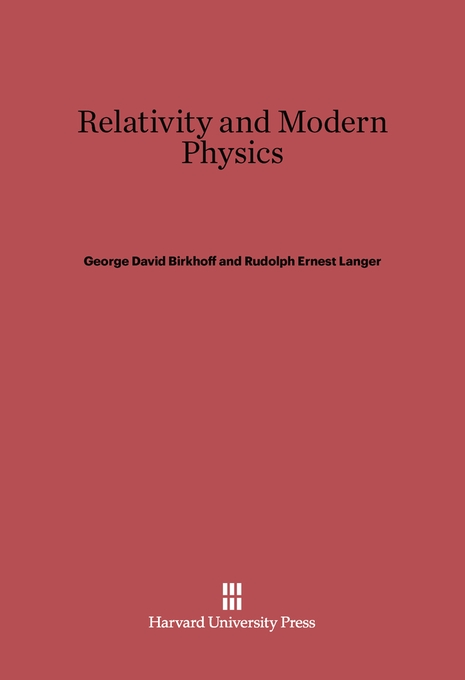 Cover: Relativity and Modern Physics, from Harvard University Press