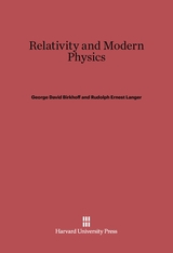 Cover: Relativity and Modern Physics in E-DITION