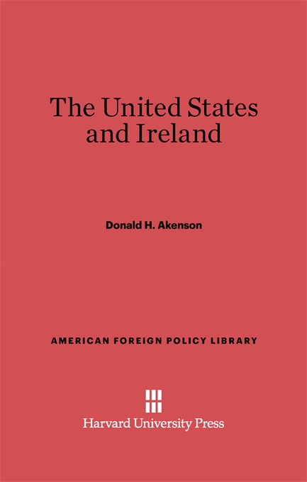 Cover: The United States and Ireland, from Harvard University Press