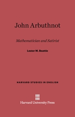 Cover: John Arbuthnot: Mathematician and Satirist