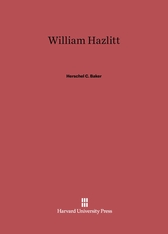 Cover: William Hazlitt