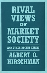 Cover: Rival Views of Market Society and Other Recent Essays