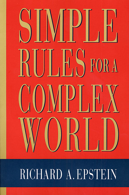 Cover: Simple Rules for a Complex World, from Harvard University Press