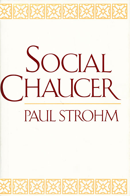 Cover: Social Chaucer, from Harvard University Press