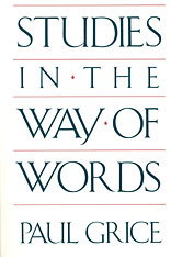 Cover: Studies in the Way of Words in PAPERBACK