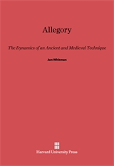Cover: Allegory: The Dynamics of an Ancient and Medieval Technique