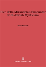 Cover: Pico della Mirandola's Encounter with Jewish Mysticism