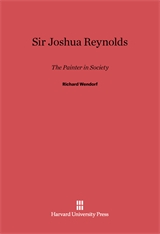 Cover: Sir Joshua Reynolds: The Painter in Society