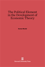 Cover: The Political Element in the Development of Economic Theory