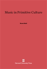 Cover: Music in Primitive Culture