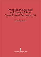 Cover: Franklin D. Roosevelt and Foreign Affairs, Volume 2: March 1934–August 1935