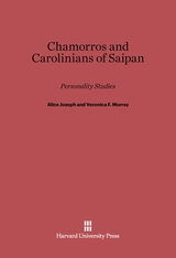 Cover: Chamorros and Carolinians of Saipan: Personality Studies
