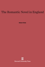 Cover: The Romantic Novel in England