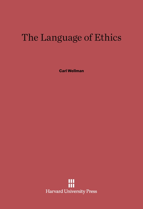 Cover: The Language of Ethics, from Harvard University Press