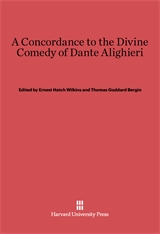 Cover: A Concordance to the <i>Divine Comedy</i> of Dante Alighieri in E-DITION