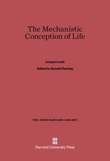 Cover: The Mechanistic Conception of Life