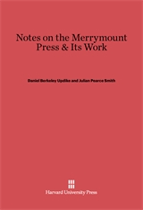 Cover: Notes on the Merrymount Press & Its Work