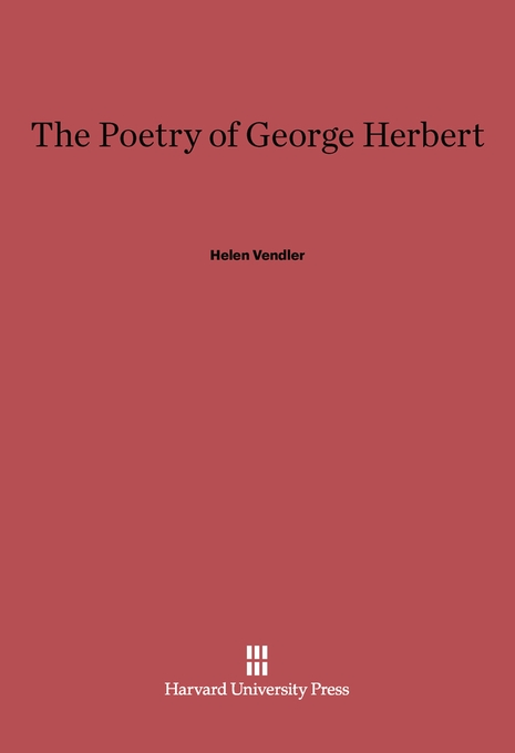 Cover: The Poetry of George Herbert, from Harvard University Press
