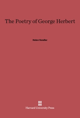 Cover: The Poetry of George Herbert