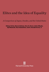 Cover: Elites and the Idea of Equality in E-DITION