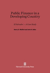 Cover: Public Finance in a Developing Country: El Salvador — A Case Study