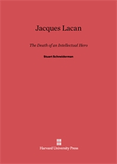 Cover: Jacques Lacan: The Death of an Intellectual Hero