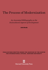 Cover: The Process of Modernization: An Annotated Bibliography on the Sociocultural Aspects of Development
