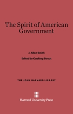 Cover: The Spirit of American Government