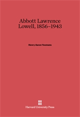 Cover: Abbott Lawrence Lowell, 1856-1943