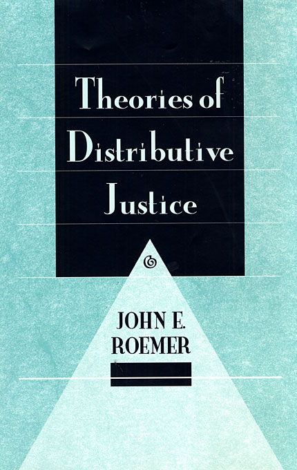 Cover: Theories of Distributive Justice, from Harvard University Press