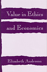Cover: Value in Ethics and Economics in PAPERBACK