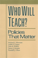 Cover: Who Will Teach? in HARDCOVER