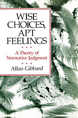 Cover: Wise Choices, Apt Feelings in PAPERBACK