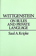 Cover: Wittgenstein on Rules and Private Language: An Elementary Exposition
