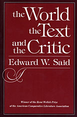 Cover: The World, the Text, and the Critic in PAPERBACK