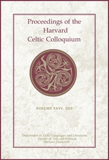 Cover: Proceedings of the Harvard Celtic Colloquium, 35: 2015