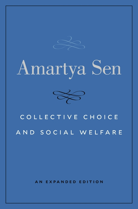 Cover: Collective Choice and Social Welfare: An Expanded Edition