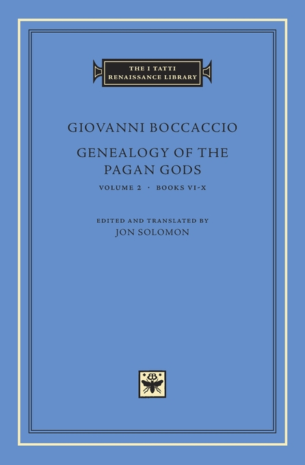 Cover: Genealogy of the Pagan Gods, Volume 2: Books VI–X, from Harvard University Press
