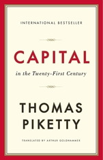 Cover: Capital in the Twenty-First Century, by Thomas Piketty, translated by Arthur Goldhammer, from Harvard University Press