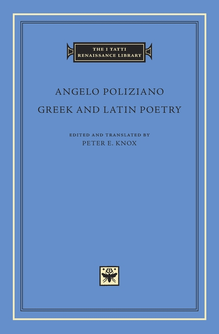 Cover: Greek and Latin Poetry, from Harvard University Press