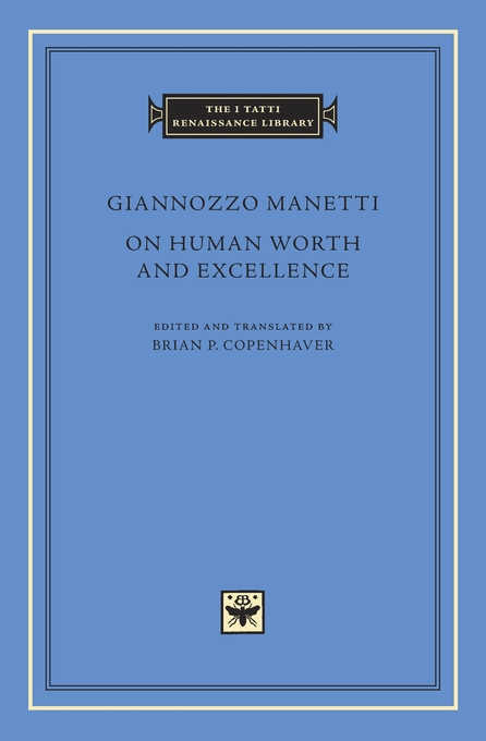 Cover: On Human Worth and Excellence, from Harvard University Press