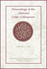 Cover: Proceedings of the Harvard Celtic Colloquium, 37: 2017